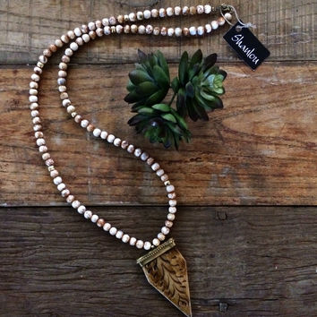 Ox Bone Shanlou Necklace