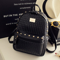 Leather Casual Cool Travel Laptop Double Shoulder Backpacks Daypack Bag