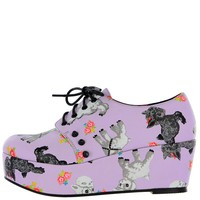 Lamb Chop Flatform ❤ Purple