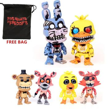 Kawaii Zombie Freddy Toys Terror Dolls Statuettes Animal Bear Fox Cinco De Mayo  at Freddy Game Figurine Nendoroid