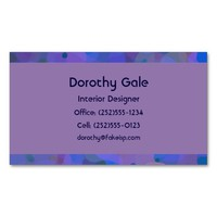 Pretty Abstract in Blue, Purple, and Green Double-Sided Standard Business Cards (Pack Of 100)