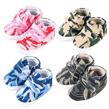 Autumn Baby Shoes Sneakers Kids Toddler Boy Canvas Crib Camouflage Shoes Infant Soft Soled Non Slip First Walkers