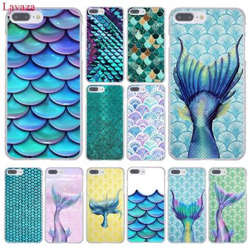 Lavaza Mermaid Fish Scale Hard Coque Shell Phone Case for Apple iPhone 8 7 6 6S Plus X 10 5 5S SE 5C 4 4S Cover