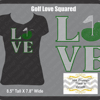 Rhinestone Love Squared Golf Women's T-Shirt