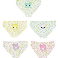 Alpaca Floral Hot Pants 5 Pack
