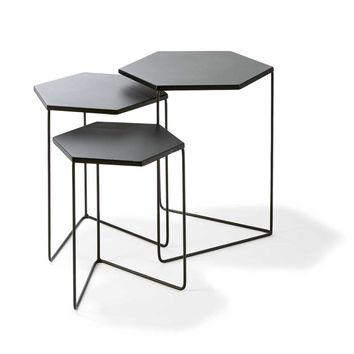 Nested Metal Geo Tables - Set of 3 | Kmart