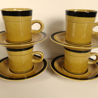 International Stone Ware Teacups Montezuma Japan