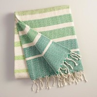 Oversized Green Ombre Indoor-Outdoor Throw