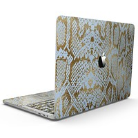 Gold Flaked Animal Laced - MacBook Pro with Touch Bar Skin Kit