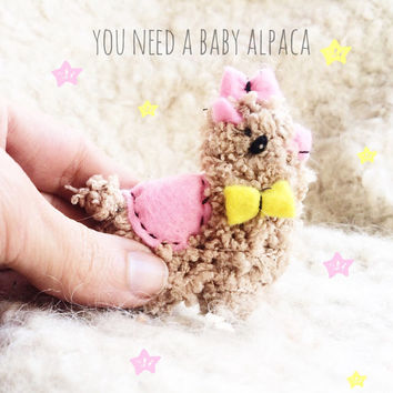 Alpaca Felt Brooch Stuffed - Llama plush - Stuffed Animals Alpaca Brooches