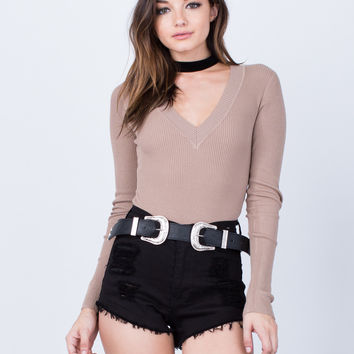 Ribbed L/S Bodysuit