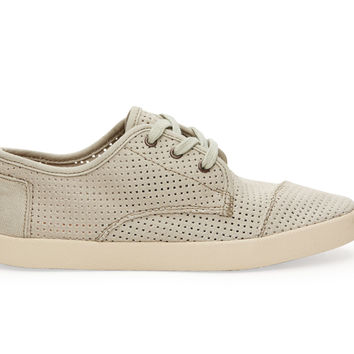 TOMS Agate Canvas Perforated Women's Paseos Green