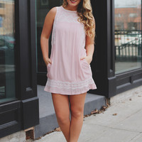 Spring Fling Dress - Blush