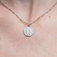 Silver Coin Necklace - Accessories