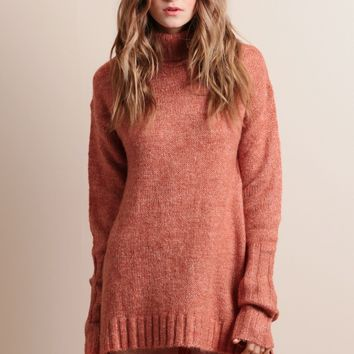 Curious Roll Neck Sweater Dress By MINKPINK