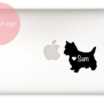 Yorkshire Terrier Decal - customizable pet name - Terrier dog - custom size and color - dog sticker - vinyl - car sticker, car decal