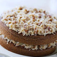 German Chocolate Cake 2 Layer 6inch Round,Wedding favors, Cookie PLatters, Party Platters, Cookie Baskets Gifts