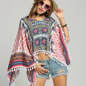 Boho Ethnic Cardigan Top