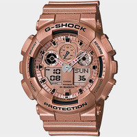 G-Shock A100gd-9A Watch Rose Gold One Size For Men 25313838101