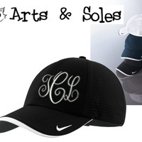 Nike Personalized Embroidered Monograms Baseball Hat Cap Personalized by Arts and Soles
