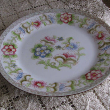 Early Noritake Nippon 'The Flamengo' Pattern, Hand Painted Plate, 1910's, Great Hostess Gift, Perfect With Any Home Decor