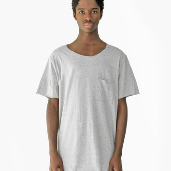 Basic Raw-Cut Short Sleeve Tee in Heather Gray