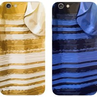 "Iphone 6 Plus, 5.5"" Case - Bastex Heavy Duty Snap on Case - Black and Blue Dress Design Case and Gold / White Dress Design [From the Hot Viral Online Debate!] for Apple Iphone 6 Plus, 5.5"" - #TheDress"