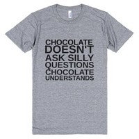 Chocolate Understands-Unisex Athletic Grey T-Shirt