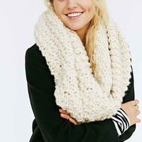Mixed Knit Eternity Scarf- Ivory One