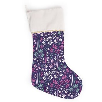 "Akwaflorell ""Meadow3"" Purple Lavender Vector Christmas Stocking"