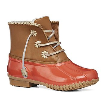 Chloe Classic Duck Boot in Fire Coral by Jack Rogers - FINAL SALE