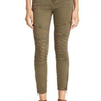 Free People 'Midnight Magic' Stretch Moto Skinny Pants | Nordstrom