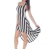 High-Low Striped Maxi Dress - Black & White from Casual & Day at Lucky 21 Lucky 21
