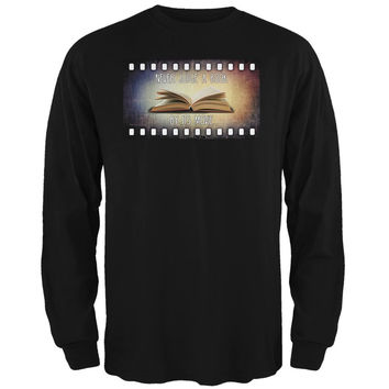 Judge Book By Its Movie Black Adult Long Sleeve T-Shirt