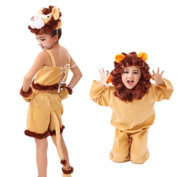Free shipping children lion costume performance Cosplay Clothing lion Costumes Jumpsuit  90-150cm S-4XL size