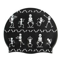 Sporti Funny Bones Silicone Swim Cap Jr at SwimOutlet.com
