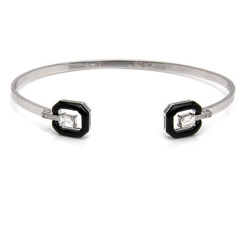 Oui Enamel and Diamond Cuff
