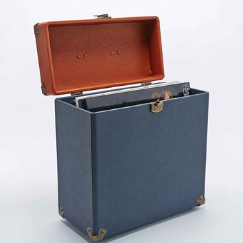 "Crosley 12"" Record Carrier Case in Navy and Tan - Urban Outfitters"