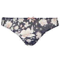 Floral Mini Knickers - Navy Blue