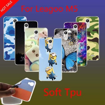 Leagoo M5 Case Leopard Rainbow Deer Butterfly Transparent Colorful Printing Phone Back Soft TPU Cover Case For Leagoo M5