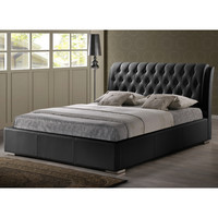 Bianca Modern Full Bed Frame with Tufted Headboard