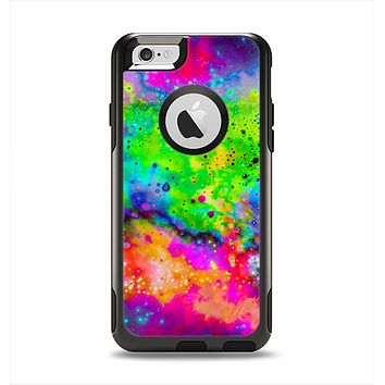 The Neon Splatter Universe Apple iPhone 6 Otterbox Commuter Case Skin Set