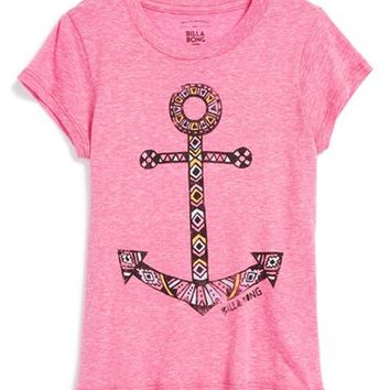 Girl's Billabong 'Party Anchor' Graphic Tee,