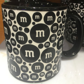 M&M's World Black Lentil Ceramic Coffee Mug New
