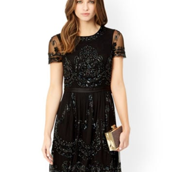 Taryn Embellished Dress | Black | Monsoon