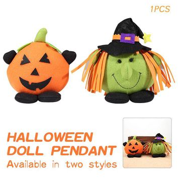 Innovative Halloween Witch Pumpkin Doll Small Hangings Pendants Plush Toy Doll For Halloween Decoration Diy Party Decor Supplies