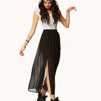 Cutout M-Slit Maxi Dress