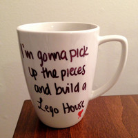 "Ed Sheeran ""Lego House"" lyric mug"