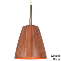 Sorg 1-light Adnap Bamboo Mini Pendant