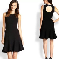 Kate Spade New York Black Fluted Bow Sweater Dress